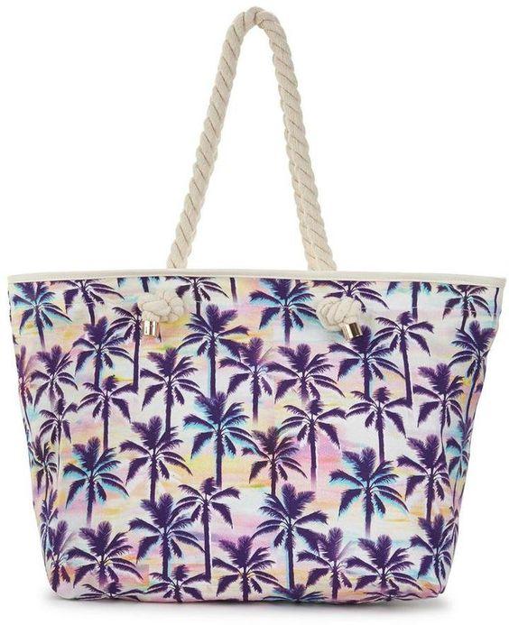 Pin for Later: 22 Strandtaschen für einen stylischen Auftritt am See, Pool oder Meer  V By Very Strandtasche mit Palmen-Druck (26 €)