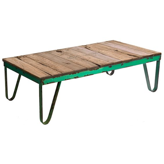 Green Coffee Table - change green to mint