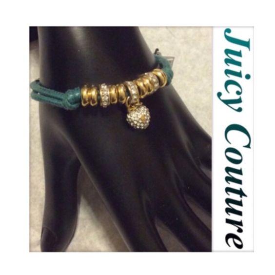 🐾🐾sale💢💢Authentic Juicy teal green bracelet Teal green Juicy bracelet.... NWT Juicy Couture Jewelry Bracelets