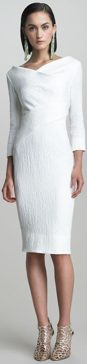 #Oscar de la Renta  vestido blanco muy elegante
