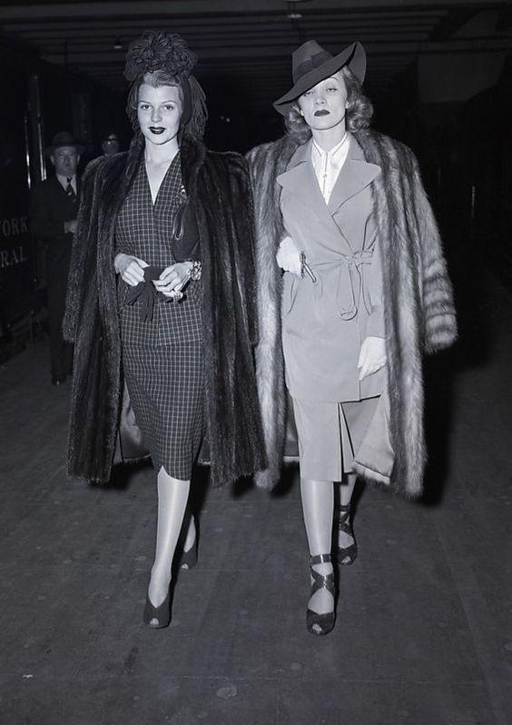 Rita Hayworth and Marlene Dietrich looking fabulous!