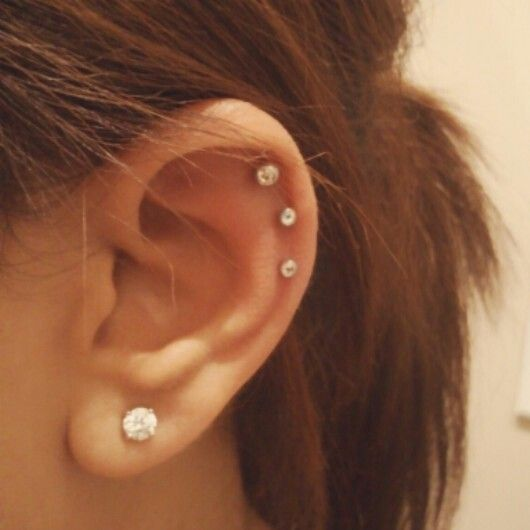 Triple cartliage ear piercing m: what do you think of this ...