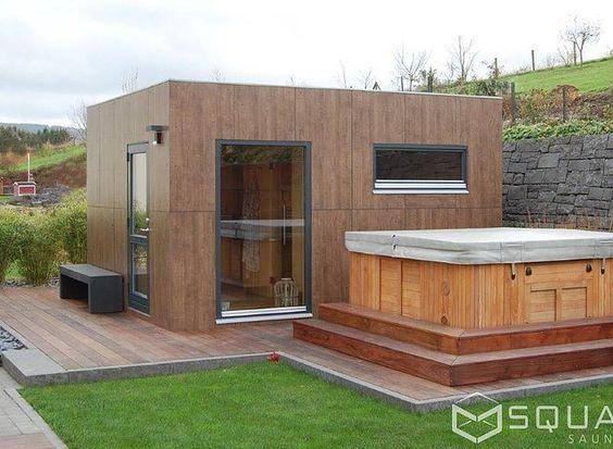 Gartensauna Modern das saunahaus avantgarde wird zur wellness oase saunas