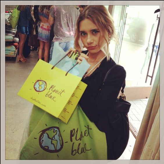 Shopping At Planet Blue With Her Friend Suzy