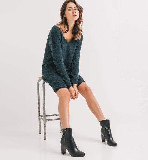 robe pull femme bleu canard promod damn i want you. Black Bedroom Furniture Sets. Home Design Ideas