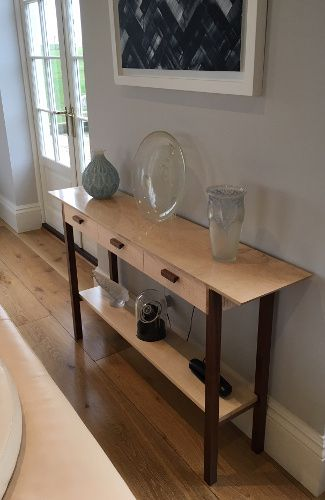 Three Drawer Entry Console Table In 2019 Narrow Entryway