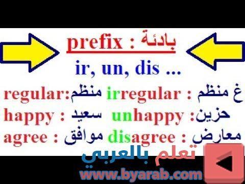تعلم اللغة الإنجليزية بسهولة أجمل وأسهل طريقة لتتعلم اللغة الإنجليزية بسرعة Quot Prefix Prefixes Happy Agree