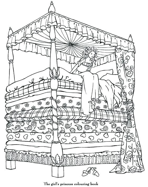 The Princess And Pea Free Coloring Page Worksheets Ks1 Coloring Books Princess Coloring Coloring Pages