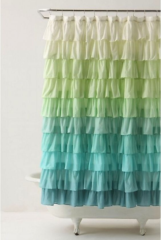 shower curtain makeover // flor.com