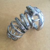 New design  90mm Male Chastity Device Special Belt Stainless Steel Penis Sleeve Sex Toy Products Metal Adult Game Cock Cage ring