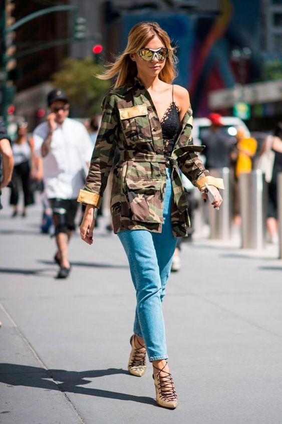 calça jeans e lingerie: