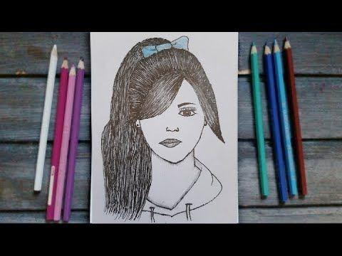 رسم سهل رسم فتاة جميلة وسهلة للمبتدئين رسم بنات كيوت تعليم الرسم How To Draw A Girl Easy Youtube Home Decor Decor Bookends