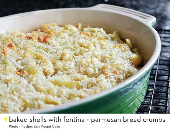 baked shells with fontina.  and 14 other mac and cheese recipes.