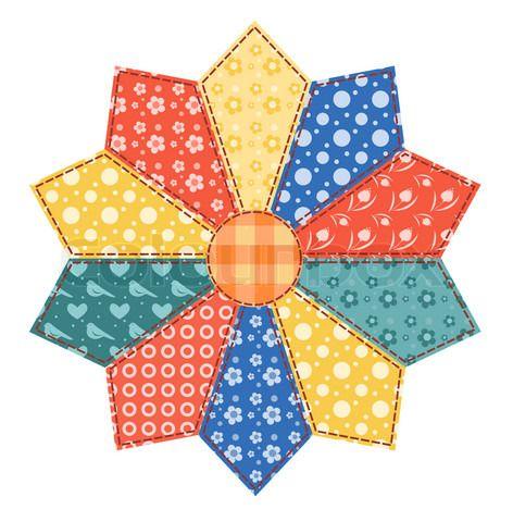 Patrones patchwork gratis otra flor moldes de - Patchwork en casa patrones ...