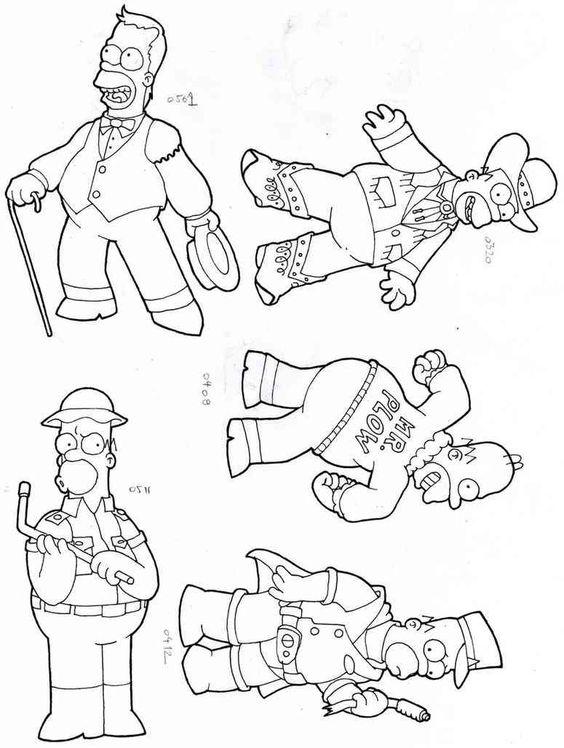 Die Simpsons 52 Ausmalbilder | Auto Hd Wallpapers | Pinterest