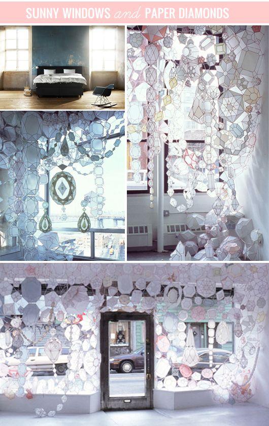 Stunning strands of paper jewels by american artist Kirsten Hassenfeld