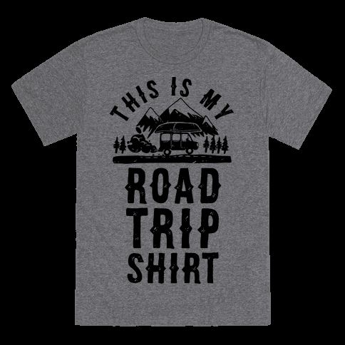 Satisfy your wanderlust and get lost and or drunk in strange places with this road trip t shirt perfect for a cross country road trip, a trip to a new country, the mountains, the woods, new cities, making discoveries, having camp fires, eating new food, going to the beach, kayaking, experiencing the US from the road, and partying in remote places!