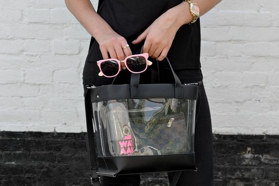 clear zara bag