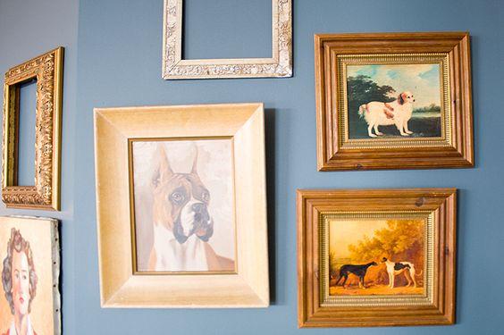 Framed dog portraits #decor #wall #art