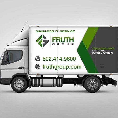 High Tech Company Needs High Tech Wrap For Delivery Truck Design