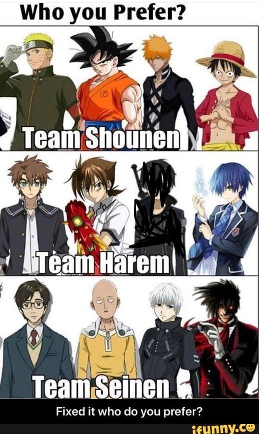 Who You Prefer Fixed It Who Do You Prefer Ifunny In 2020 Anime Harem Otaku Anime Anime Reccomendations