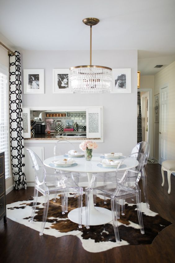 Chic, eclectic dining area #HomeDecor: