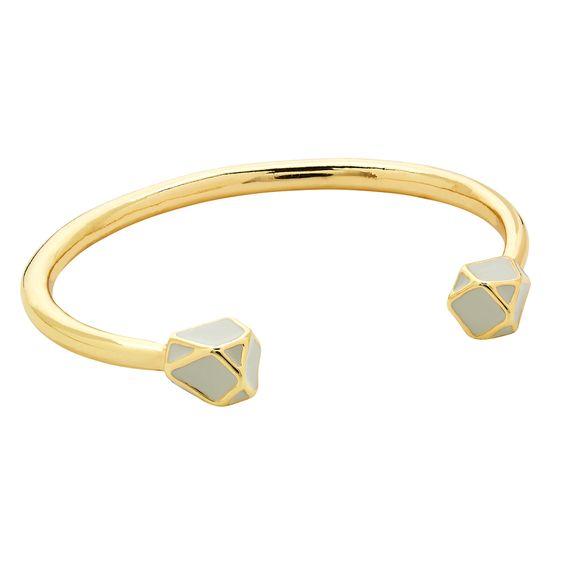 Gold Open Geometric Bangle