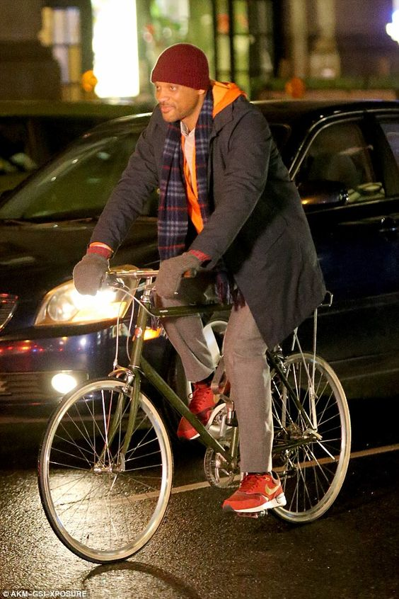 Will Smith rides along NYC's famous 5th Avenue...