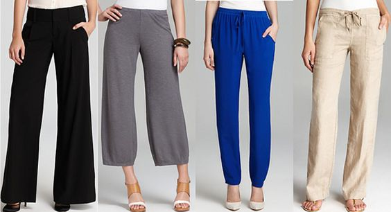 Pants for inverted triangle body shape women