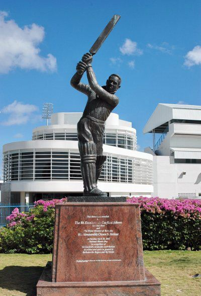 On Sunday April 28th 2002, as part of the Heroes day celebration, a 1.5 tonne bronze twelve foot statue of Sir Garfield Sobers was unveiled to the public of Barbados.