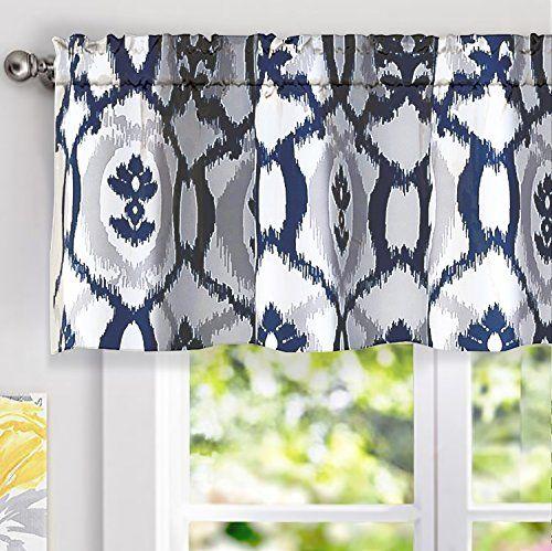 Driftaway Evelyn Ikat Fleur Floral Pattern Window Curtain Https