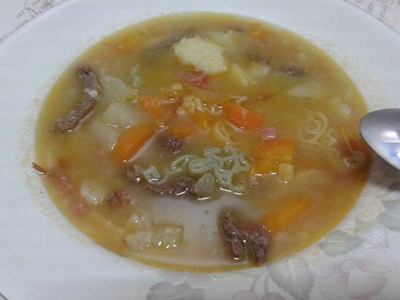 Delícias da Lu Pelescakes : Sopa de Legumes com Músculo