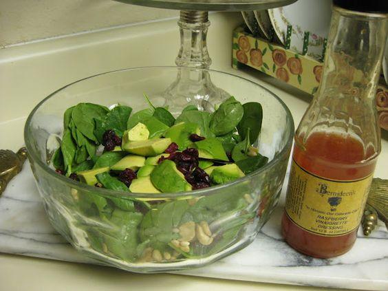 Bernideen's Tea Time Blog: Cranberry Spinach Salad