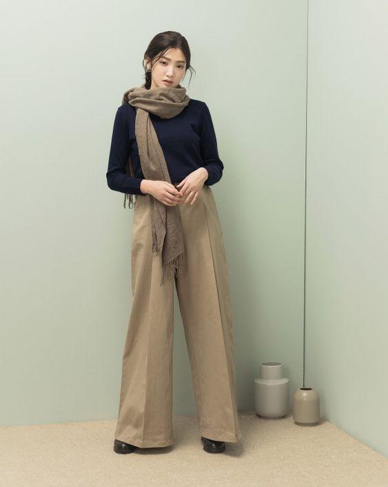 簡約羅紋高領針織上衣|女裝|MEIER.Q
