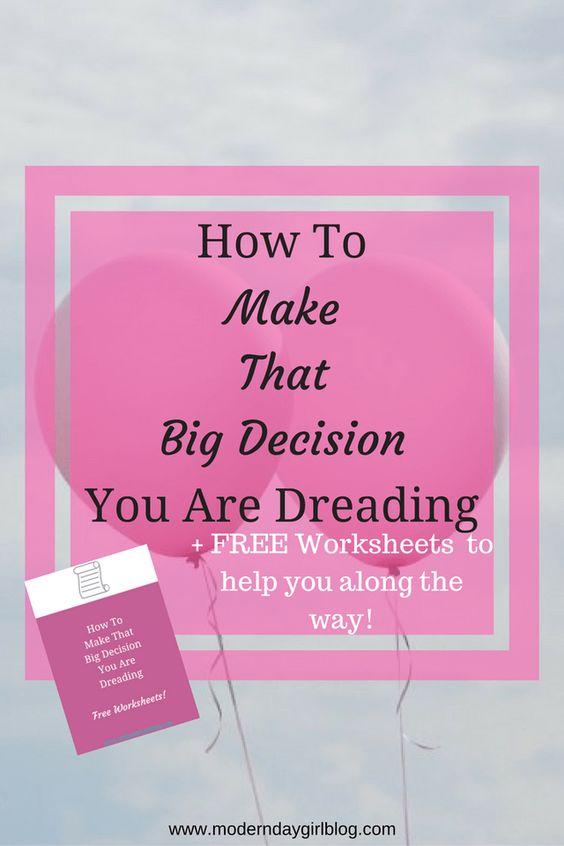 There are moments in life where we have to make the kind of decisions that can alter your path in huge ways. Learn how to deal with them here!