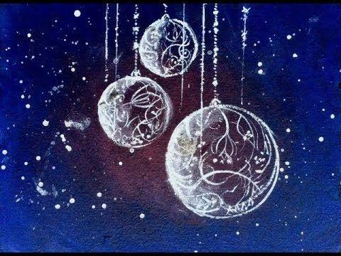 Malen Mit Acryl Weihnachtsmotiv Mit Schlagmetall Youtube Weihnachtsbilder Malen Acryl Malen Acrylbilder Malen
