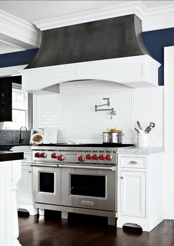 Blue Wall Colors Stove And Custom Kitchens On Pinterest