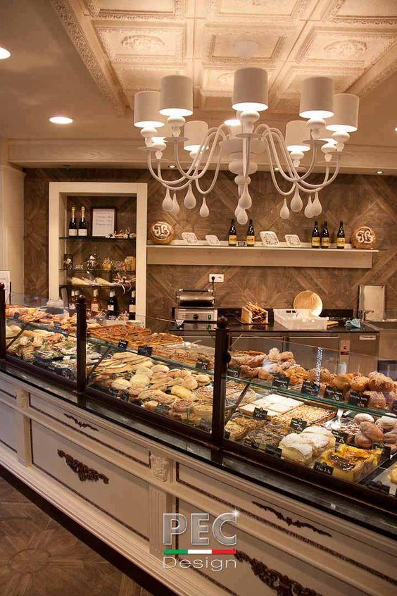 Boulangerie p tisserie blanc vieux nice agencement de for Bakery interior design