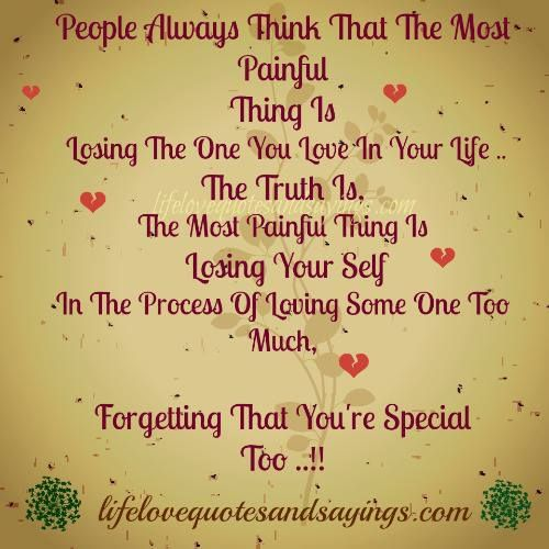 losing the love of your life quotes people always think