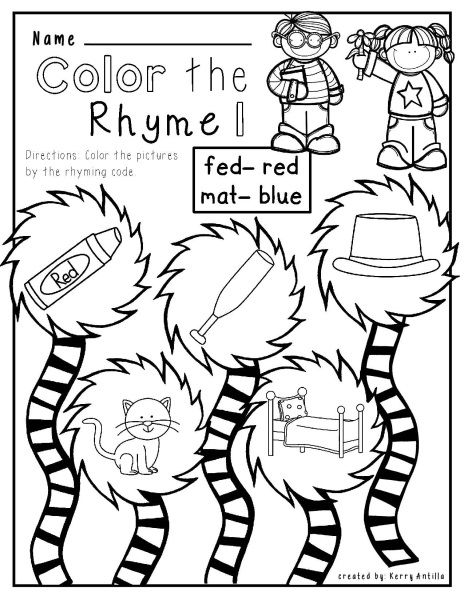 Worksheets Cat In The Hat Worksheets cats hats and worksheets on pinterest cat hat mat no prep rhyming free