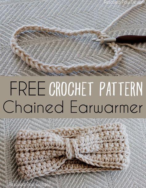 Crochet Chained Ear Warmer Pattern By Crochet Headband Pattern