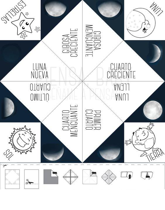 Enséñame a pensar: Las fases de la Luna: Proyecto El Espacio: