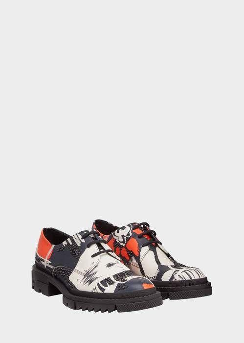 Versace Clan Print Derby Shoes | Derby