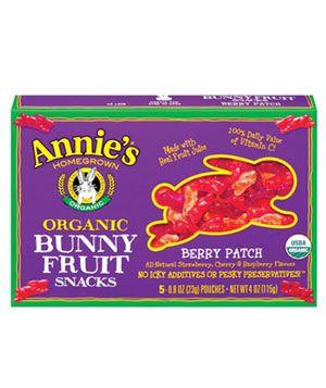 Annie's Organic Bunny Fruit Snacks, $4.50