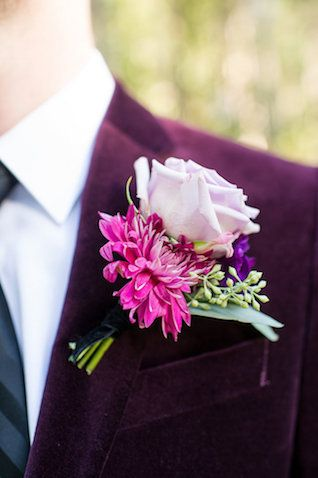 Pink rose boutonnière | Kate Marrow Photography