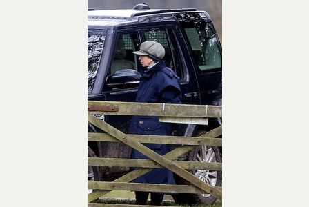 Princess Anne, the Tindalls, Mike, Zara and Mia and the Phillips out at Gatcombe