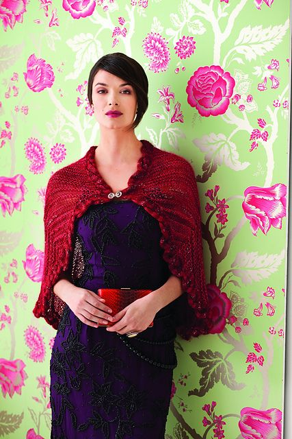 Silk and Mohair Cape by Iris Schreier for Knit Red: Stitching for Women's Heart Health -- :swoon: