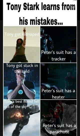 Tony Stark Learns From His Mistakes