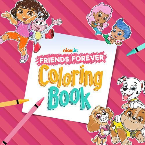 Nick Jr Friends Forever Coloring Book Coloring Books Nick Jr Friends Forever