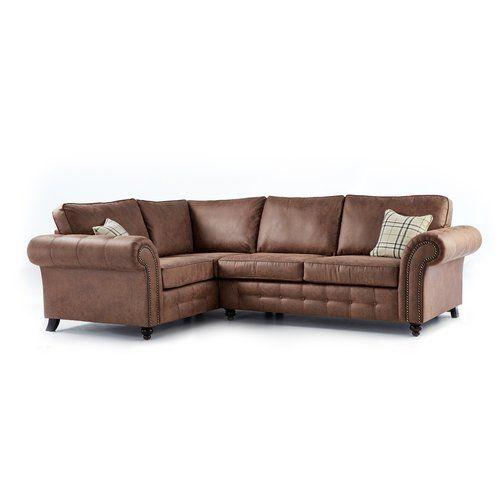 Ecksofa Standridge Classicliving Polsterfarbe Rustikal Ausrichtung Links Ausgerichtet In 2020 Leather Corner Sofa Corner Sofa Sofa